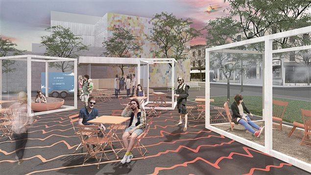 Un mobilier urbain s'intégrera au décor.