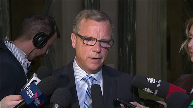 Le premier ministre de la Saskatchewan, Brad Wall