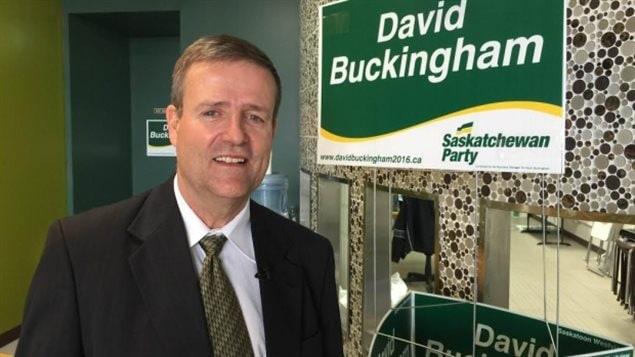 David Buckingham a battu le chef du Nouveau Parti démocratique, Cam Broten, dans la circonscription de Ssskatoon Westivew lors des élections provinciales du 4 avril.