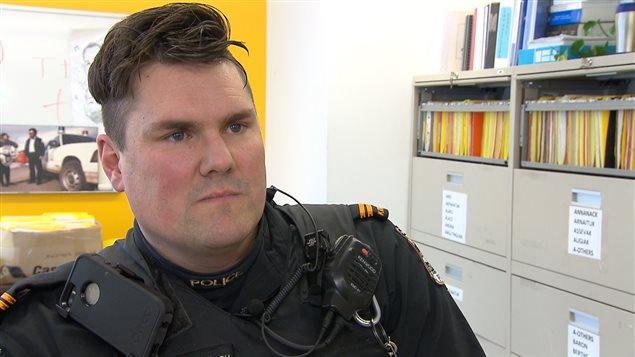 Michael Filteau, policier à Kuujjuaq depuis 9 ans.