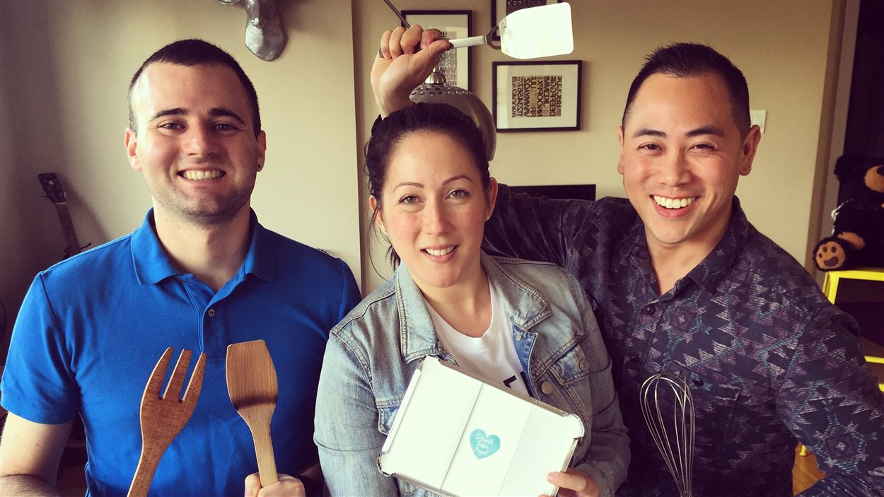 Thomas Boudel Tan, Andrea Wesley et Eddy Boudel Tan du «Sidewalk Supper Project».