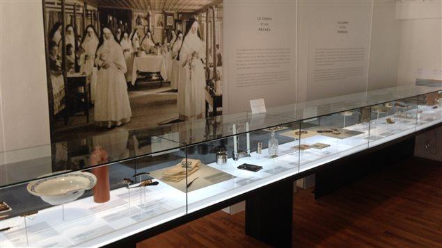 Une salle du musée dédiée aux soins hospitaliers