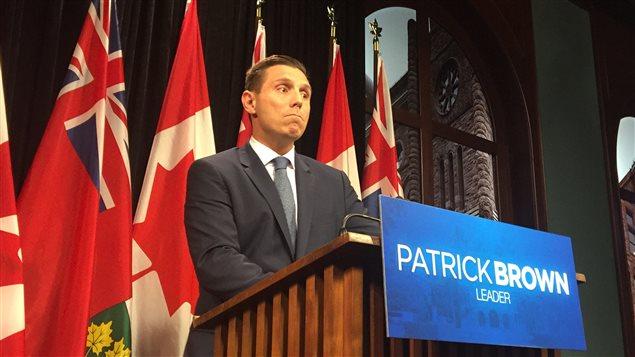 Le chef progressiste-conversateur Patrick Brown s'est dit déçu de la rencontre avec la première ministre.