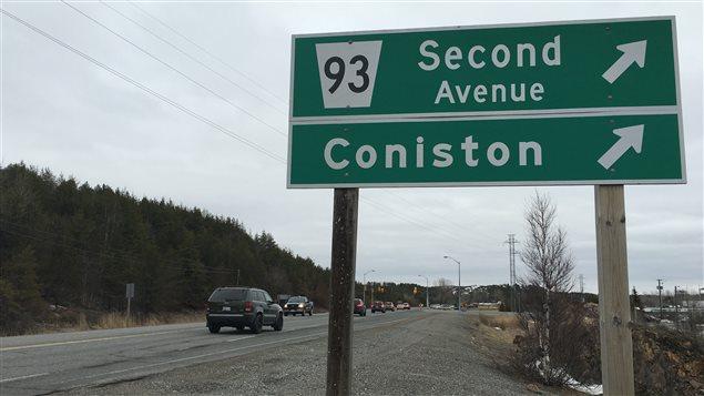 La Second Avenue dans le secteur de Coniston, dans la ville du Grand Sudbury.