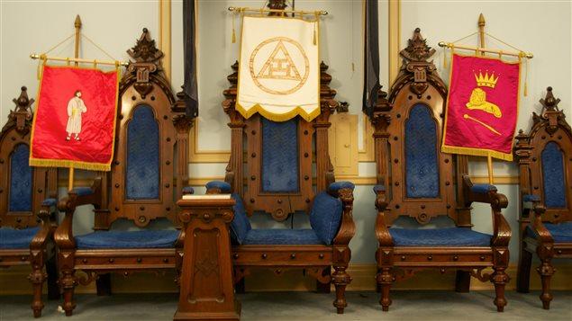 Loge dans le Temple maçonnique de Montréal
