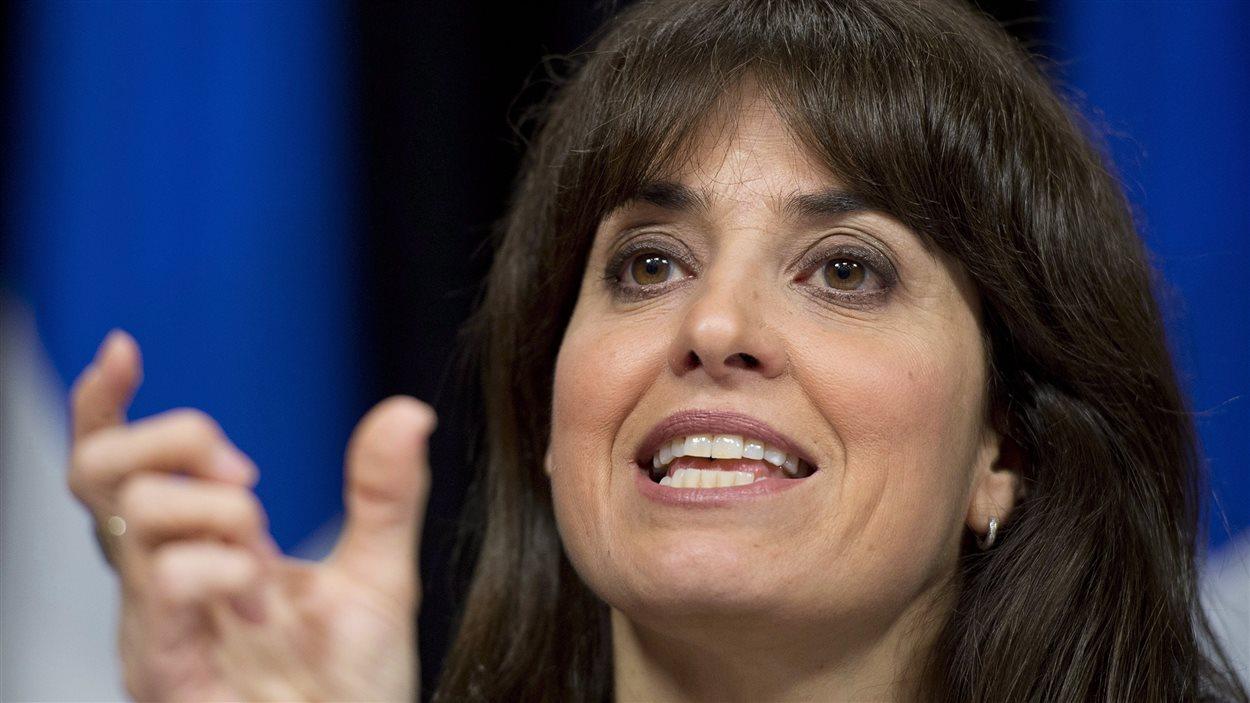 Véronique Hivon, en juin 2013, alors qu'elle était ministre au sein du gouvernement Marois