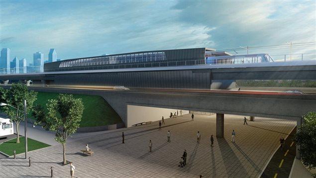 Le projet de système léger sur rails (SLR) pour Montréal.