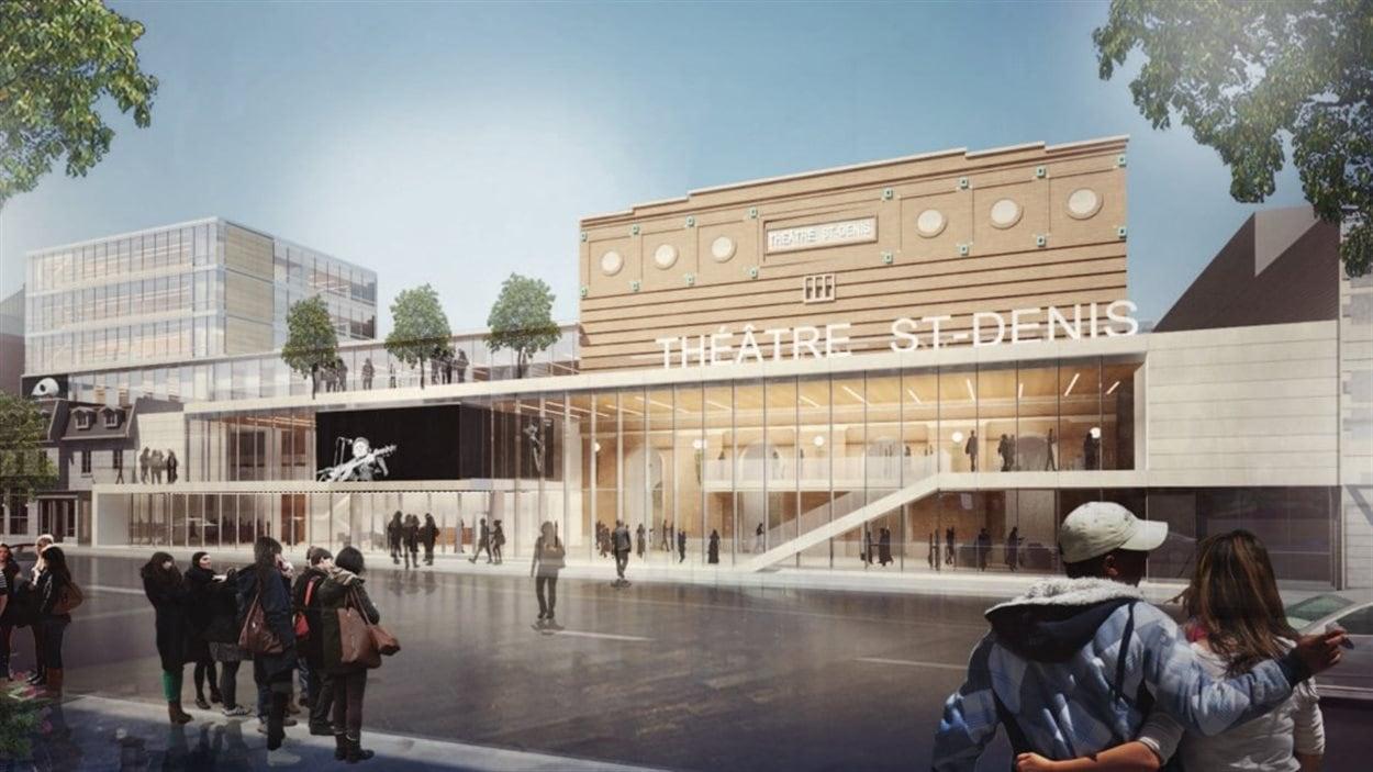 Maquette du  réaménagement du Théâtre St-Denis