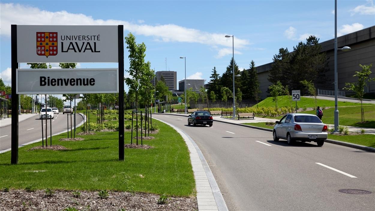 L'entrée nord du campus de l'Université Laval.