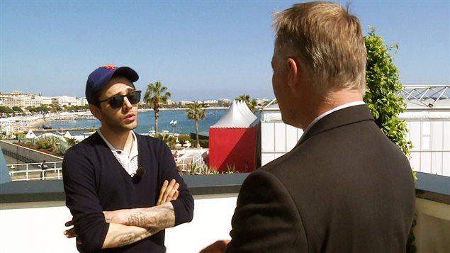 Xavier Dolan en entrevue avec Jean-François Bélanger à Cannes