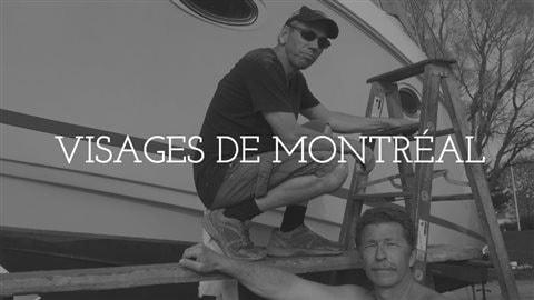 André et René s'occupent de leurs bateaux au Club nautique de Longueuil.