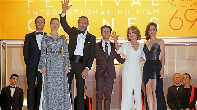 Gaspard Ulliel, Léa Seydoux, Vincent Cassel, Xavier Dolan, Nathalie Baye et Marion Cotillard