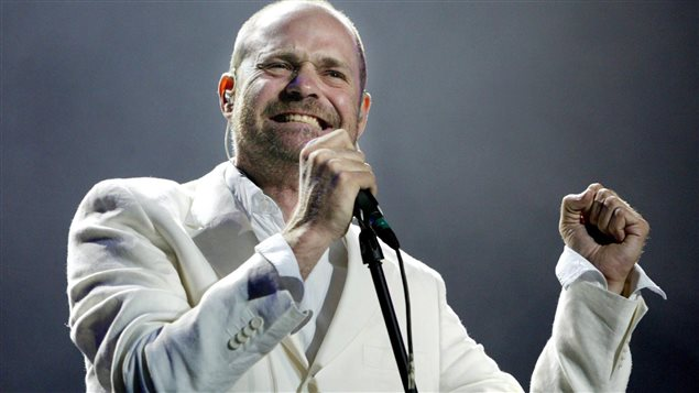 Gord Downie, chanteur du groupe canadien Tragically Hip