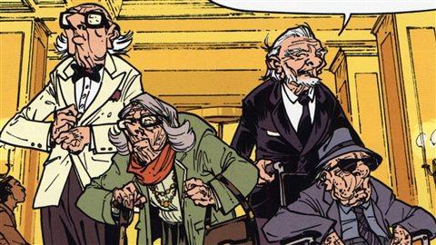 Image tirée de la BD Les Vieux Fourneaux, tome 2.