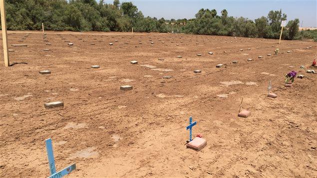 Un cimetière pour les personnes mortes en tentant d'entrer illégalement aux États-Unis.