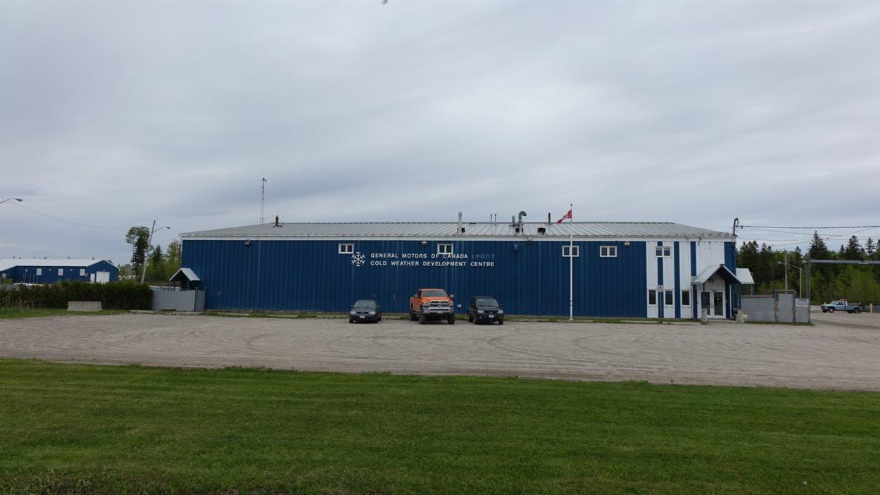 Les installations à Kapuskasing où General Motors teste le rendement de ses véhicules dans des conditions hivernales.