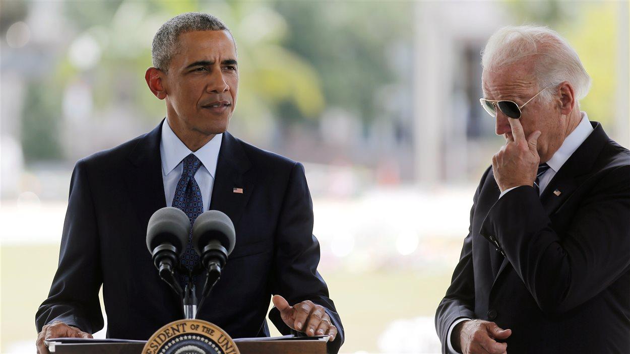 Barack Obama s'est rendu à Orlando, accompagné du vice-président des États-Unis, Joe Biden.