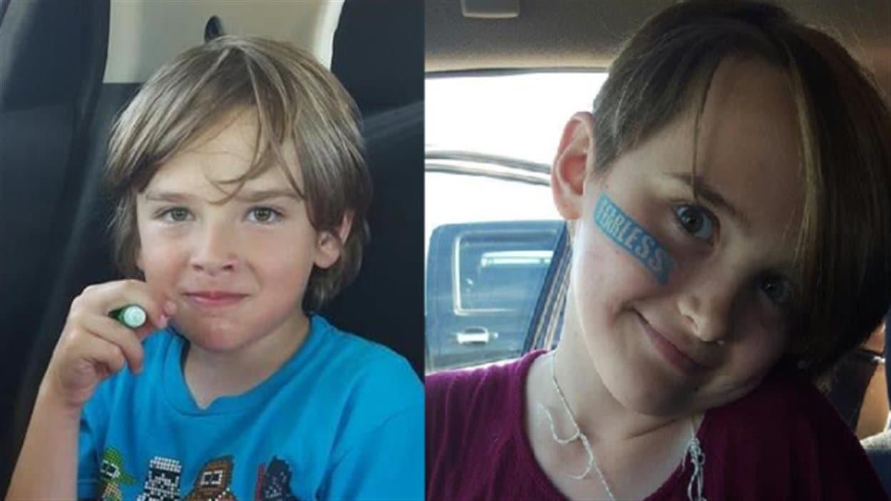 Josh Giesbrecht, 9 ans et Montana Giesbrecht, 11 ans