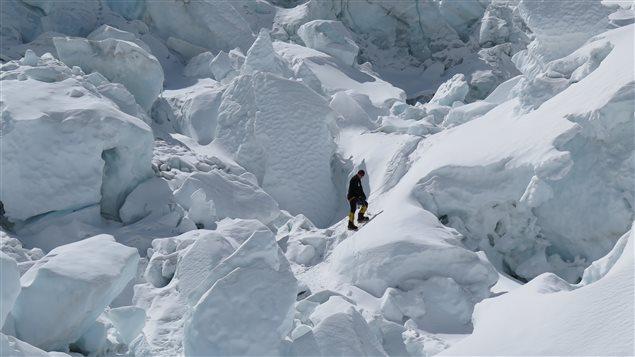 «Le Kungu, ce sont des blocs de glace de la grosseur d'une maison. Personne, même les sherpas, ne veut y rester bien longtemps», raconte Jean-François Tardif.