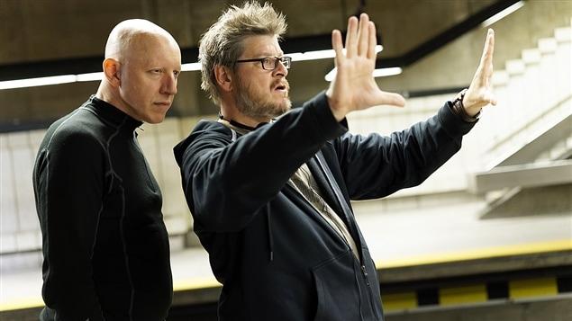 Le réalisateur Podz (à droite) sur le plateau de tournage de «King Dave»