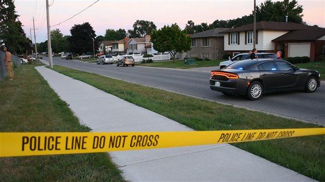 Opération policière à Strathroy, en Ontario