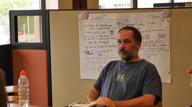 Martin Zibeau, de la Baie-des-Chaleurs, en Gaspésie, est venu s'informer sur les possibilités de démarrer un Living Lab dans sa région.