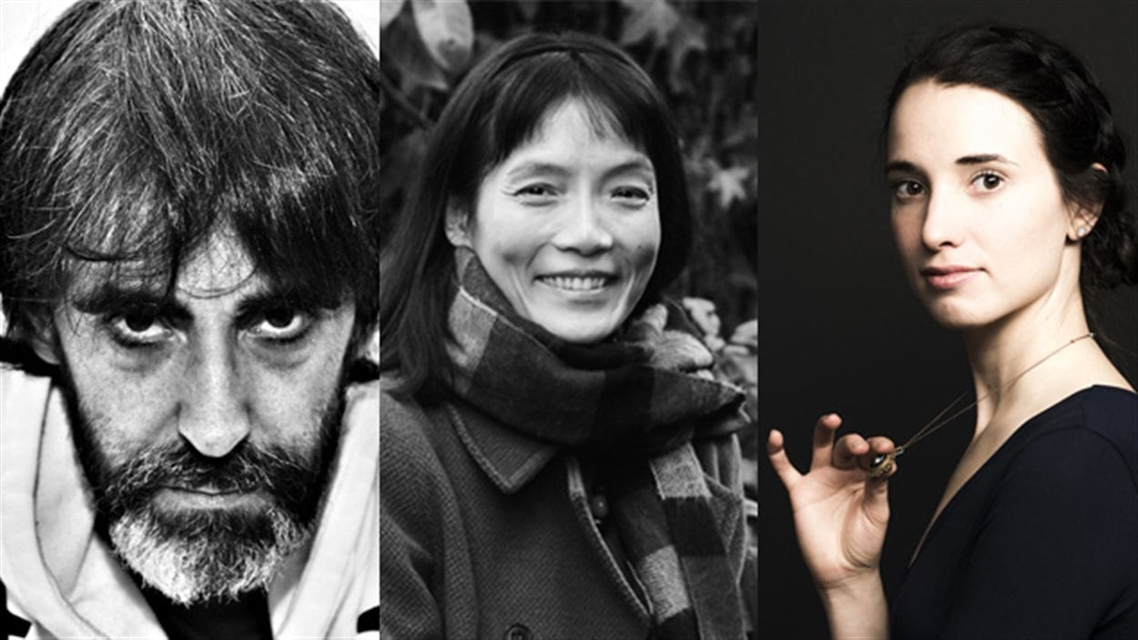 Les auteurs Biz, Ying Chen et Audrée Wilhelmy