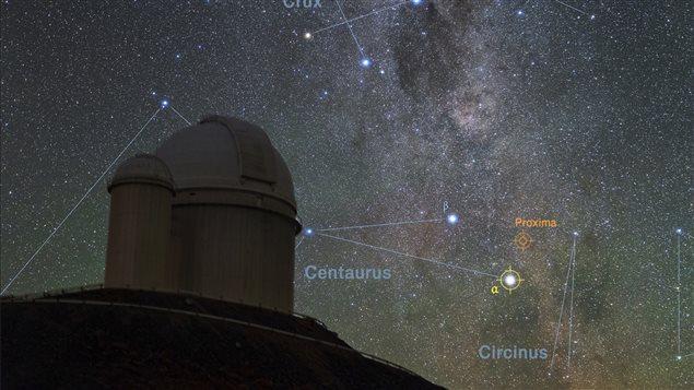 Une vue de la voute stellaire depuis l'observatoire de l'ESO au Chili