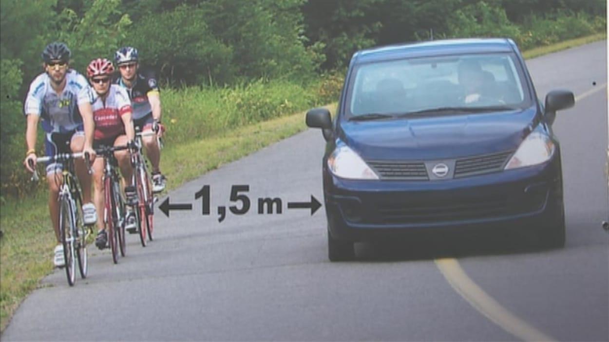 d passement des cyclistes une loi difficile appliquer disent les policiers ici radio. Black Bedroom Furniture Sets. Home Design Ideas
