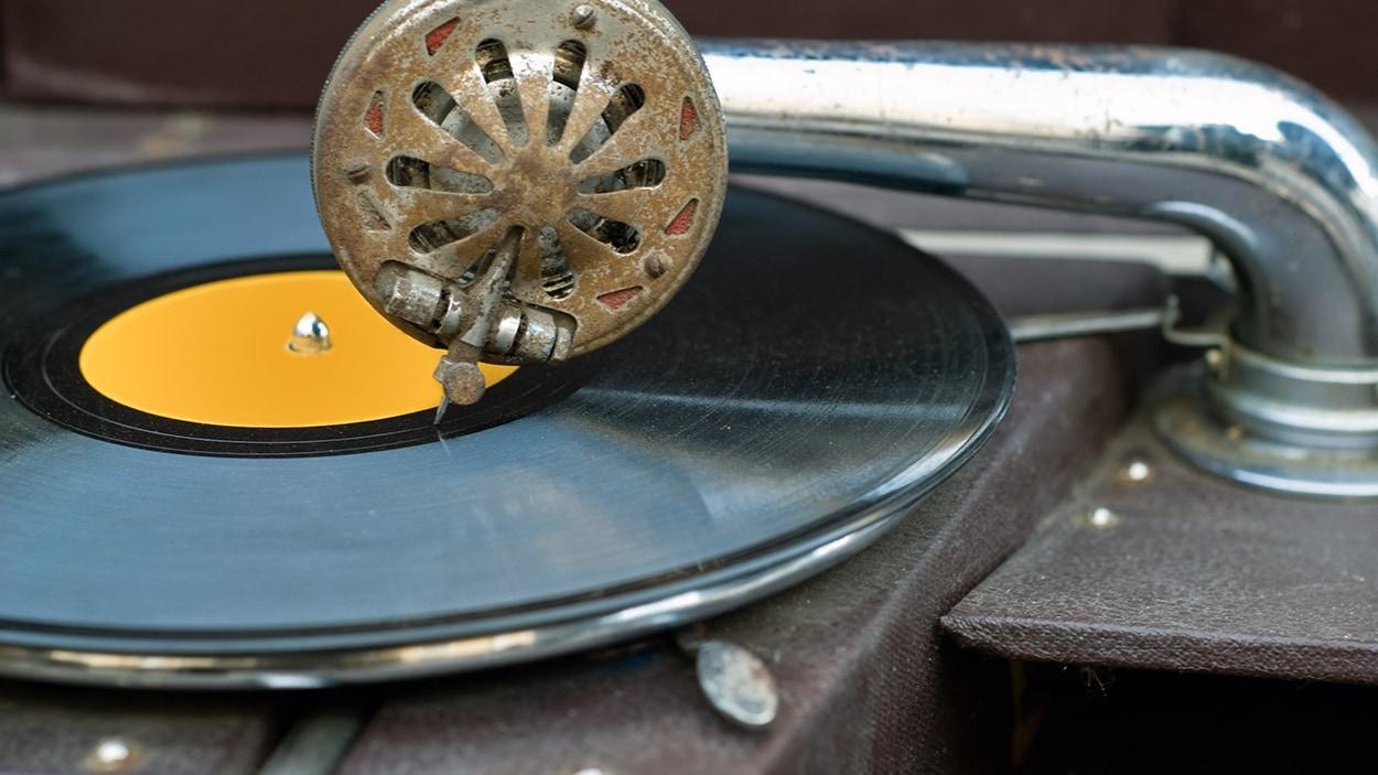 Un disque vinyle
