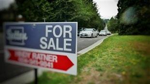 Un panneau « à vendre » dans la région du Grand Vancouver.