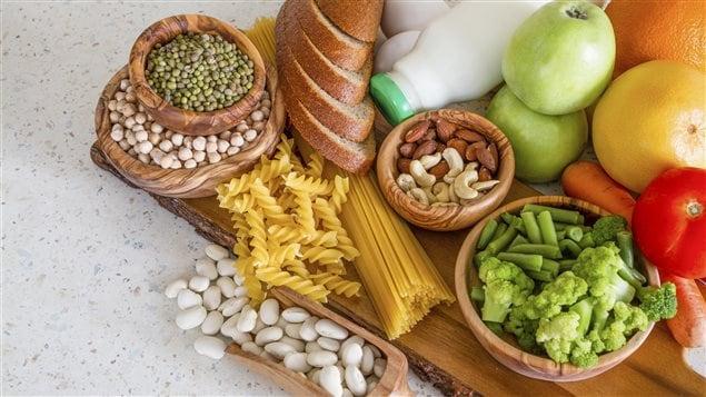 Des aliments de base du régime alimentaire végétarien
