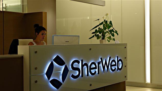 La réception de l'entreprise Sherweb
