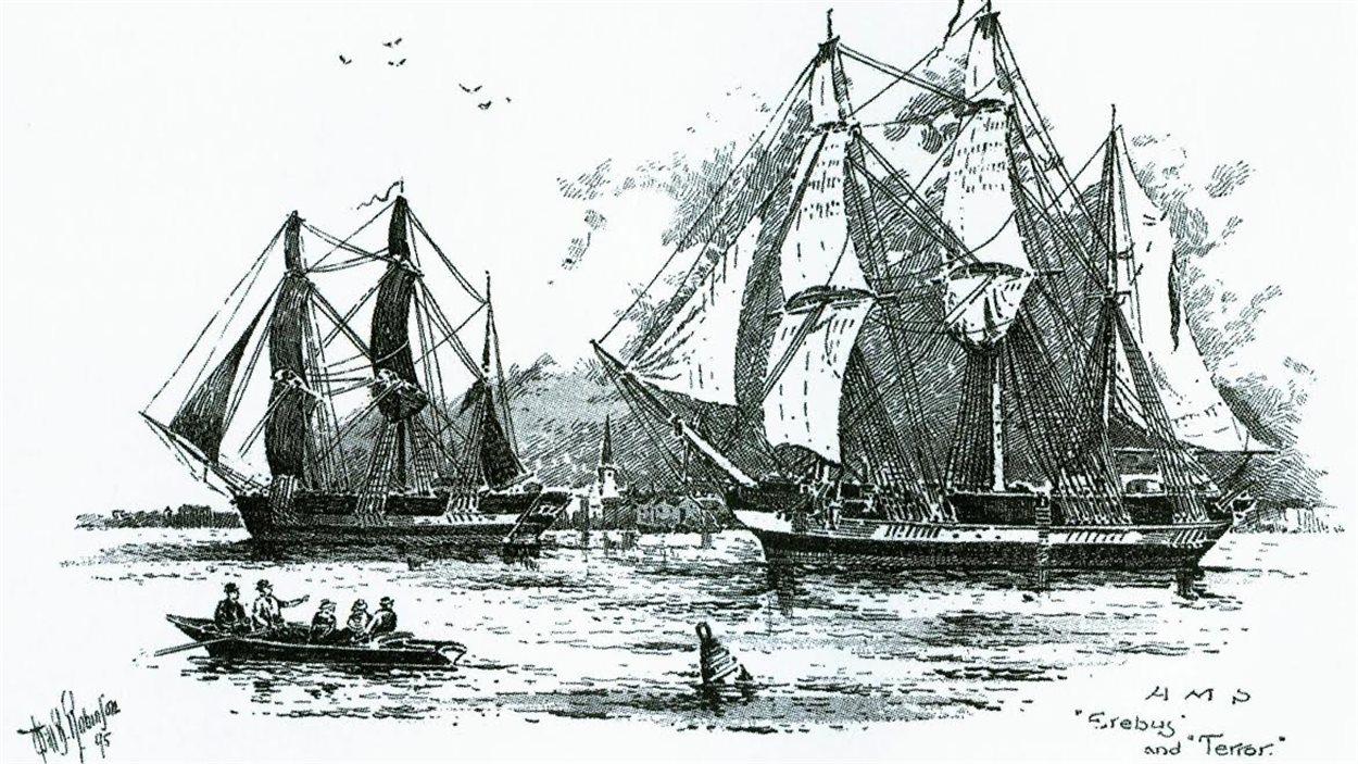 Deux navires, HMS Erebus et HMS Terror, sont disparus en 1846 lors de l'expédition Franklin, dans le Grand Nord canadien.