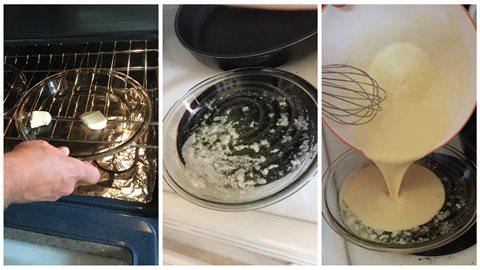 Cuire la pâte à crêpe au four
