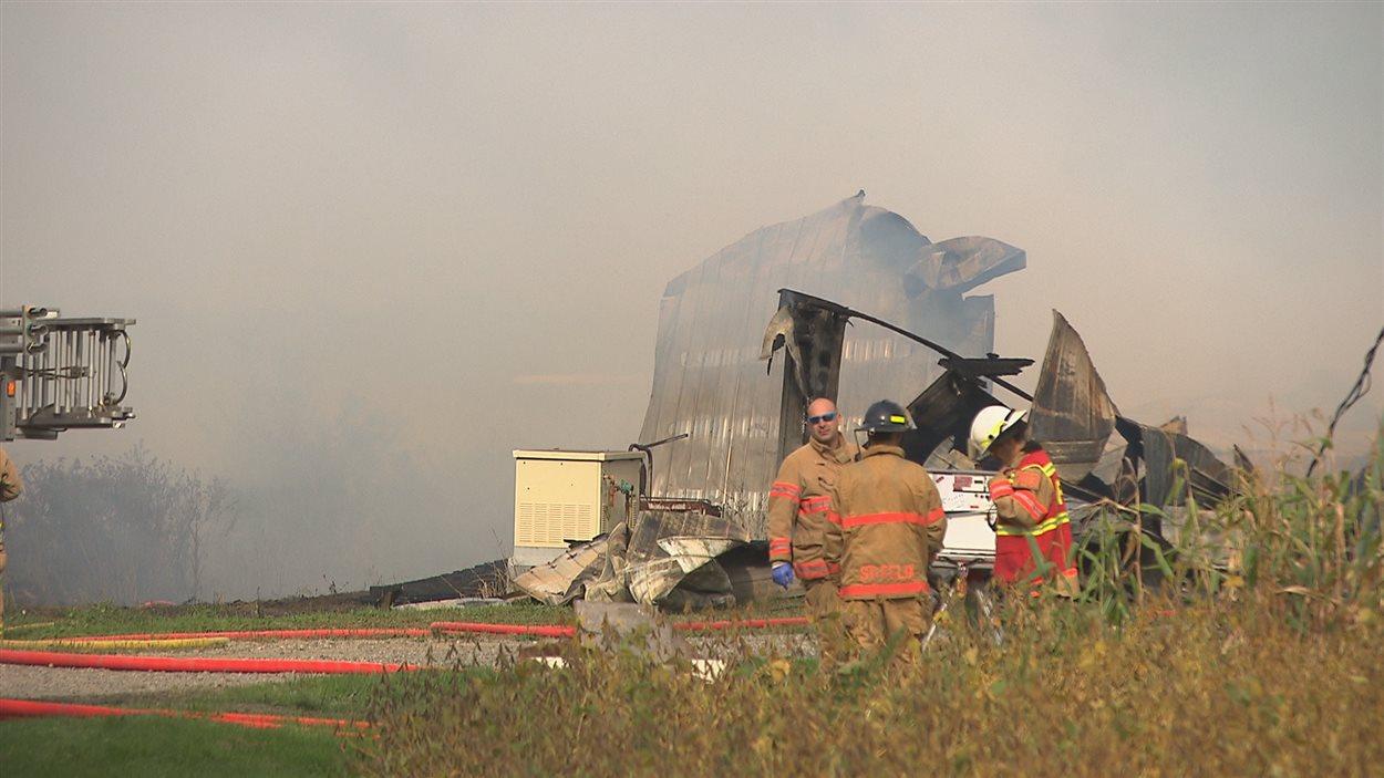 Incendie dans une ferme de Saint-Félix-de-Kingsey
