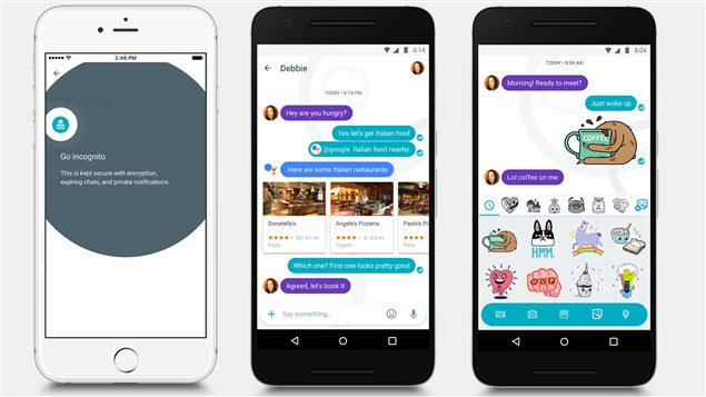 L'application de messagerie Google Allo.