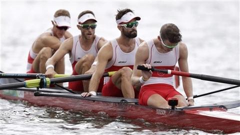 Le quatre de pointe canadien aux Jeux de Rio.