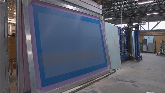 Un modèle ayant servi à la préparation des motifs sur les panneaux de verre du pavillon Pierre Lassonde