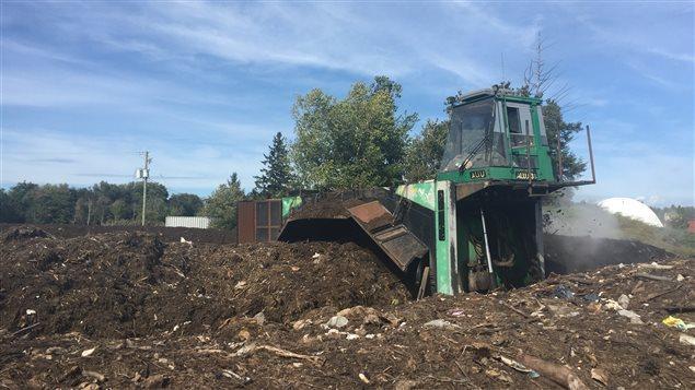 Le site de compostage de Mironor