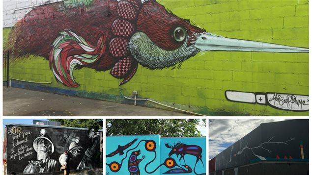 Quelques murales répertoriées en Abitibi-Témiscamingue