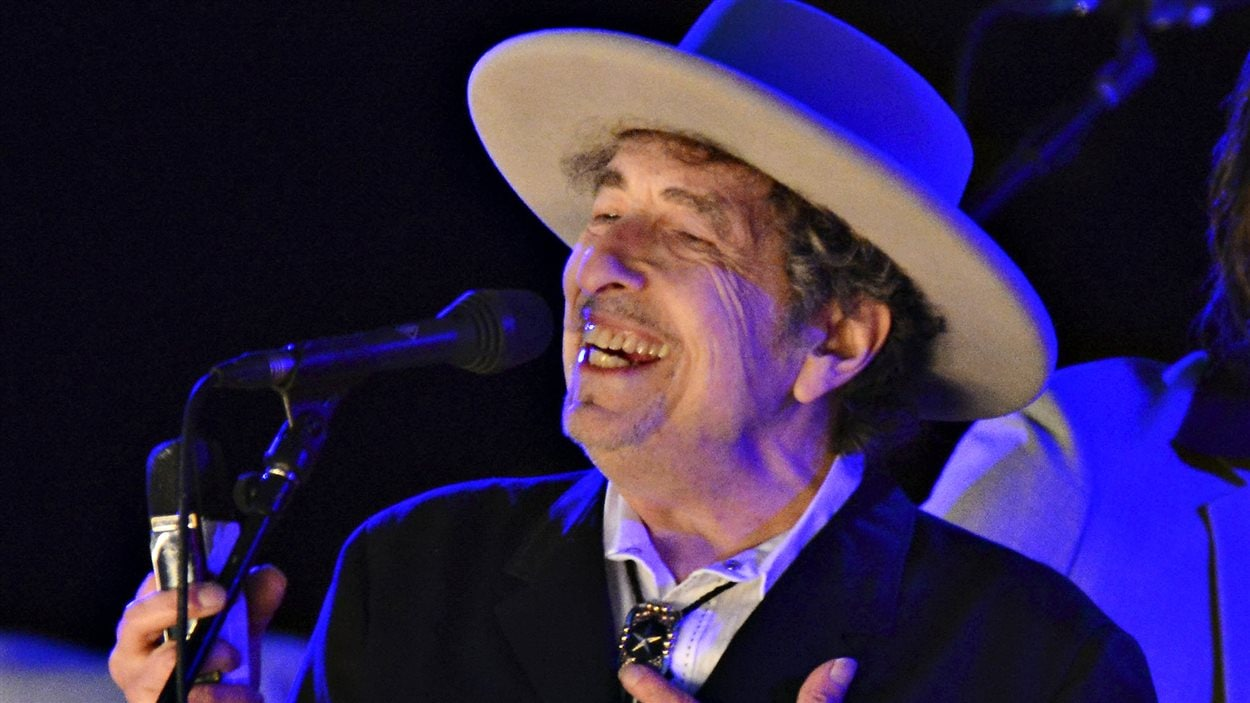 Bob Dylan, lors d'un festival de musique à Kent, en 2012.