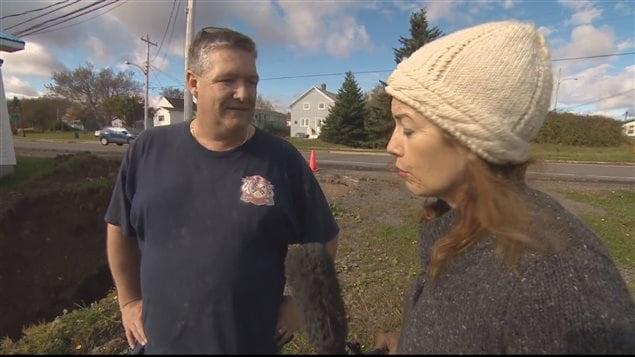 James Bates, un résident de l'île du Cap-Breton, a été touché par les pluies diluviennes de l'Action de Grâce.