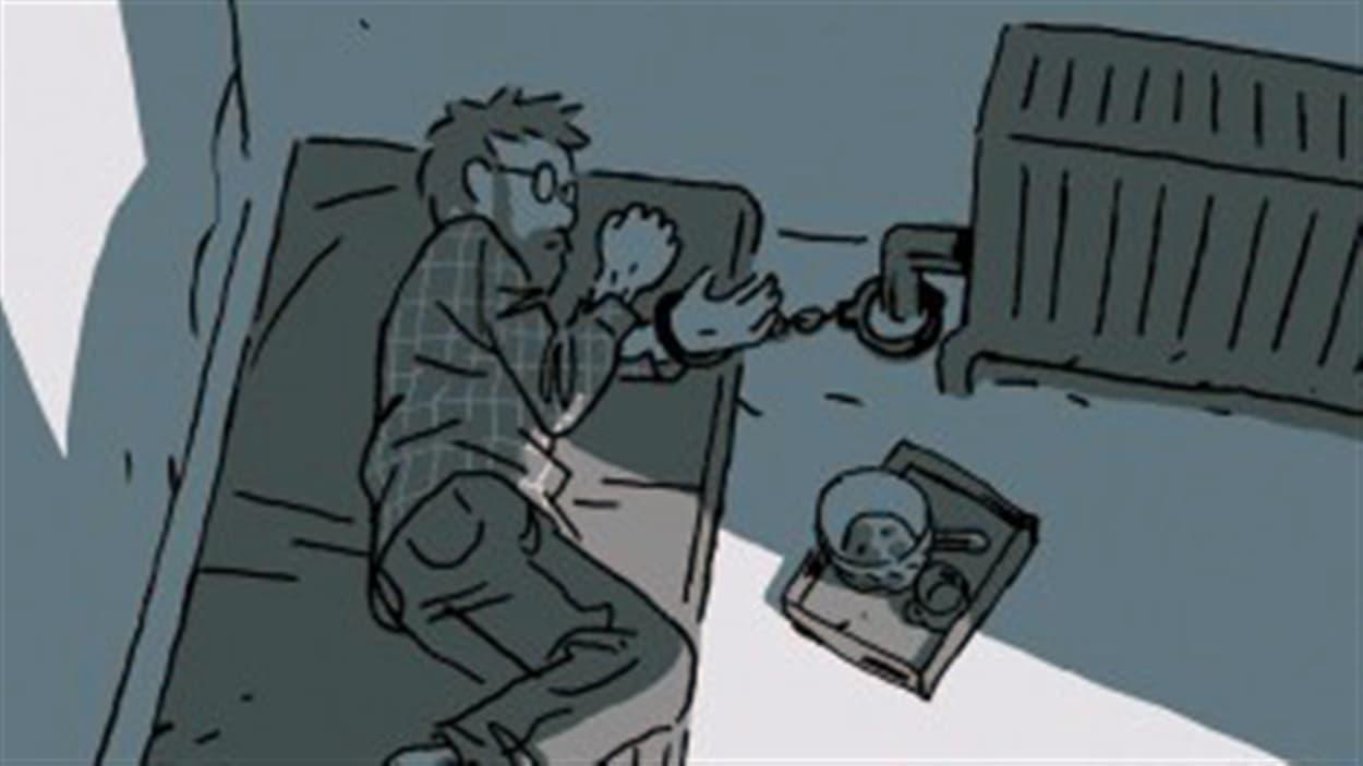 La page couverture de « S'enfuir: récit d'un otage », de Guy Delisle