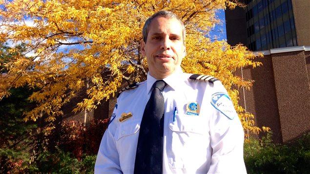 Inspecteur André Durocher de la division de la sécurité routière et de la circulation au SPVM