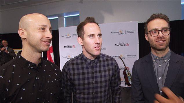 Jeff Stinco, Chuck Comeau et Sébastien Lefebvre, du groupe Simple Plan