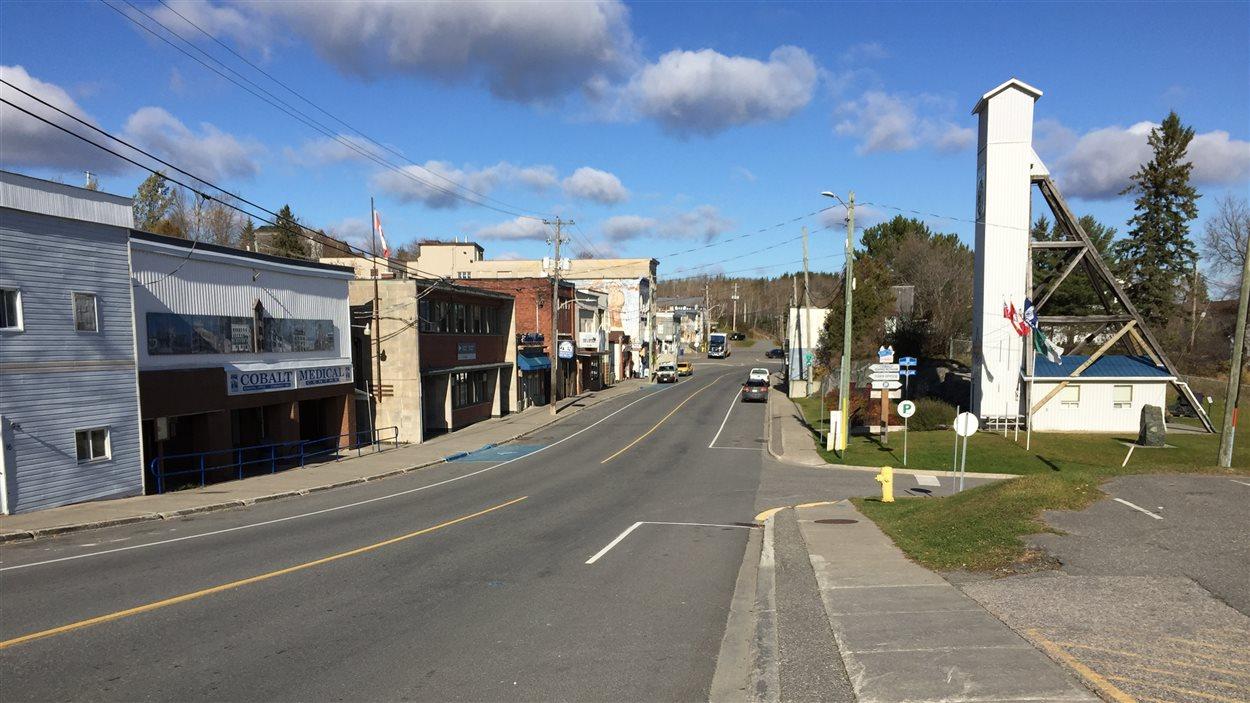 Le centre-ville de Cobalt