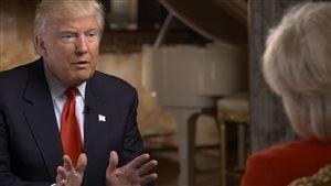 Donald Trump en entrevue à l'émission 60 minutes.