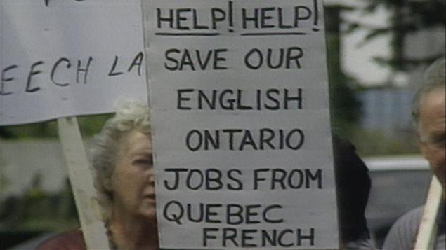 L'Alliance pour la préservation de l'anglais au Canada (APEC), un groupe de pression contre le bilinguisme officiel