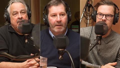 Raymond Bouchard, Mario Jean et Antoine Levasseur-Rivard